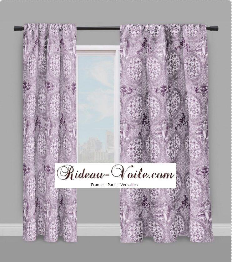 Rideau motif imprimé Toile de jouy #Tissu#toile#de#jouy#au#mètre#motif#imprim…