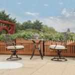 chaises de planeur de patio de dali, chaises d'arrière-cour de jardin meubles extérieurs de patio 2 ensembles de PCs
