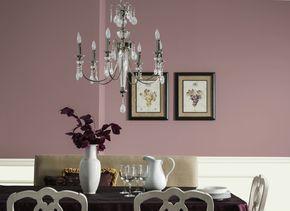 couleur mauve-salle enfumée couleur mur lustre