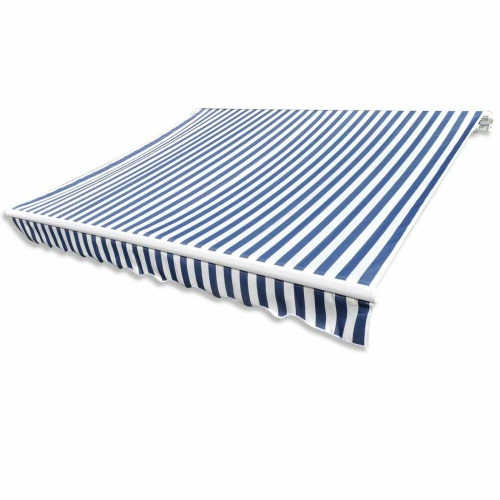 eBay #Sponsored vidaXL store auvent en toile de protection solaire bleu & blanc 63 m …