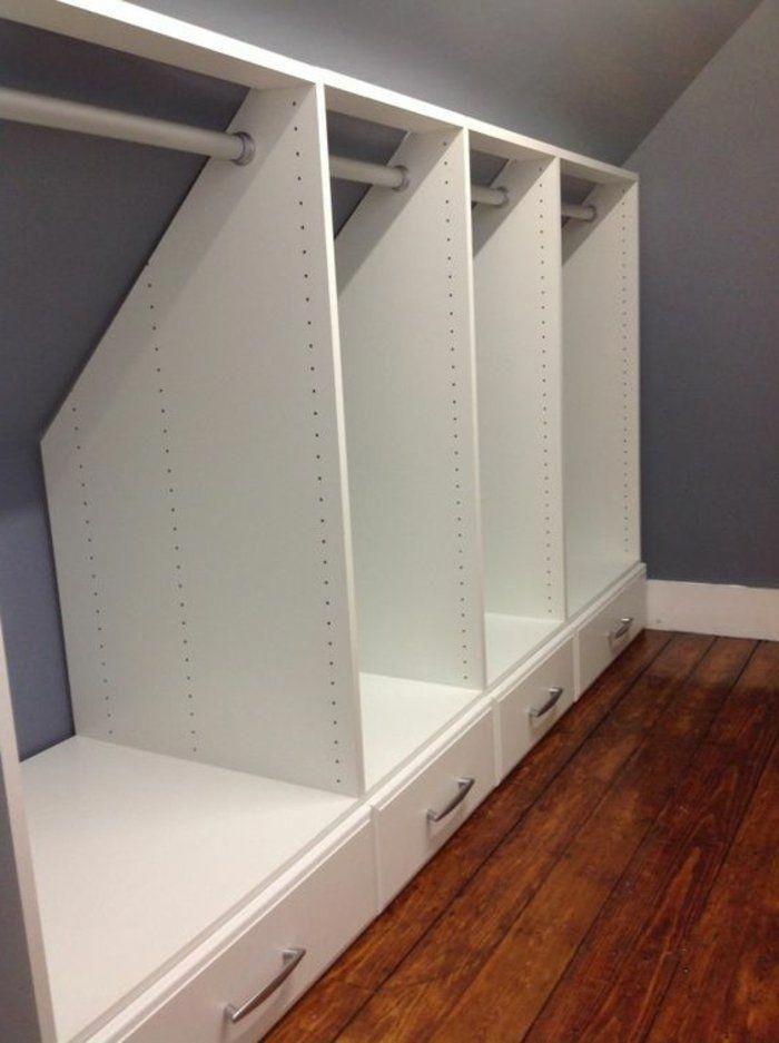 idée-de-meuble-sous-pente-armoire-sous-pente-avec-des-tiroirs-idée-comment-ran…