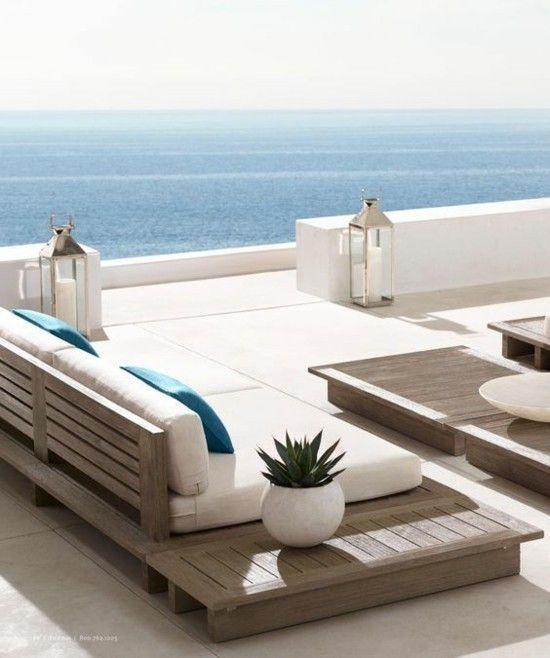 idées d'ameublement de terrasse moderne sud flair sérénité beau …
