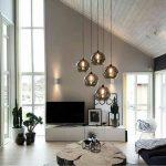 intérieur de salon noir et blanc chic, décor de salon moderne, décor d'appartement