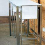 interior design:Table A Manger En Verre Table Mange Debout Contemporaine En Mét...