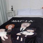 lit de flanelle jette / couvertures cadeau couverture de canapé pour les parents femme enceinte mère ...