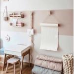 petit coin bureau avec bande de couleur