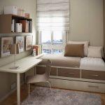 petite pépinière chambre conception lit lits box-bureau-beige-brun
