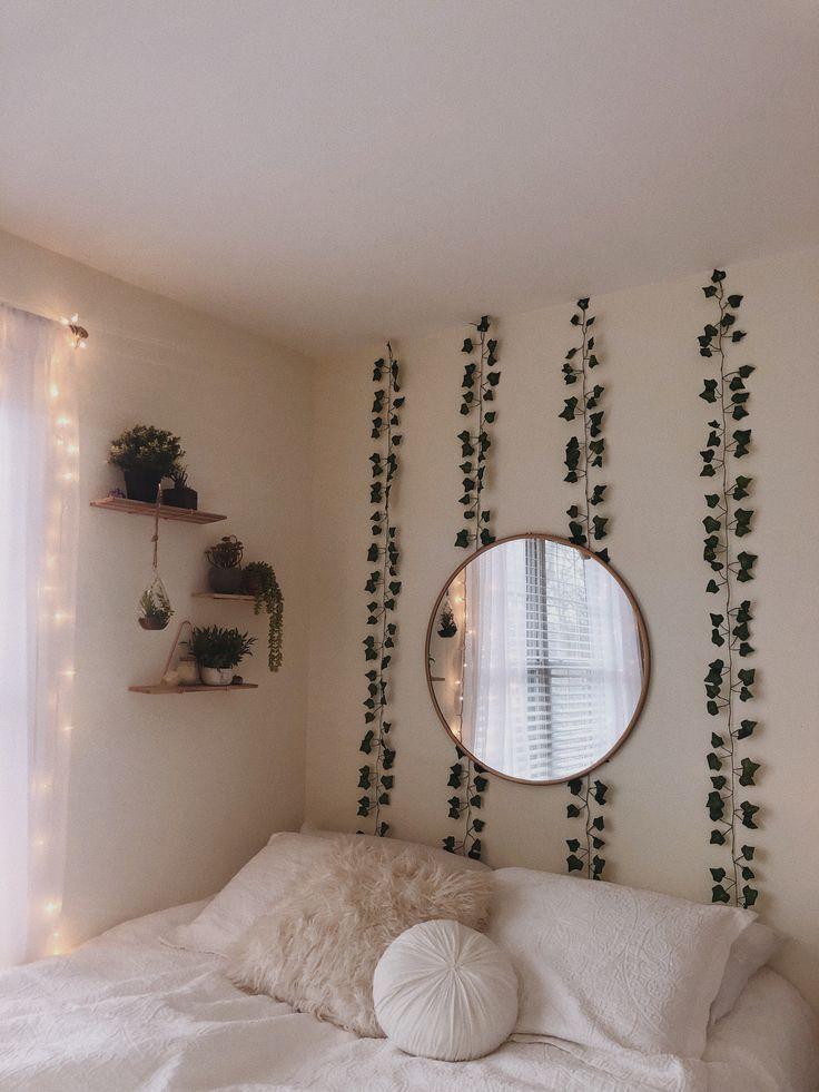 plantes vertes murs blancs reflètent la chambre de l'adolescence – dortoir