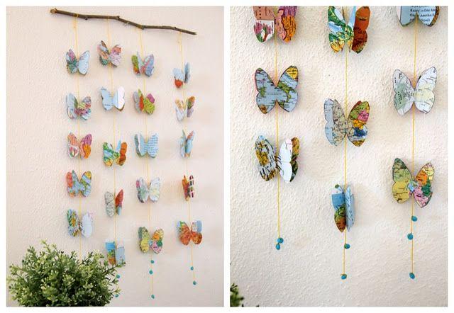 rideaux papillon papier ou tissus