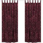 vidaXL Lot de 2 écharpes rideaux à boucles en ornements de taffetas baroques 140x225 cm rouges