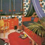 vintage children room decor // chambre enfant années 70 ✭ mid centure kids de...