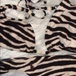 🔥🦓 2pc Brown n Tan Zebra Print Bikini 👙 GUC. Brown and Tan Zebra Print....