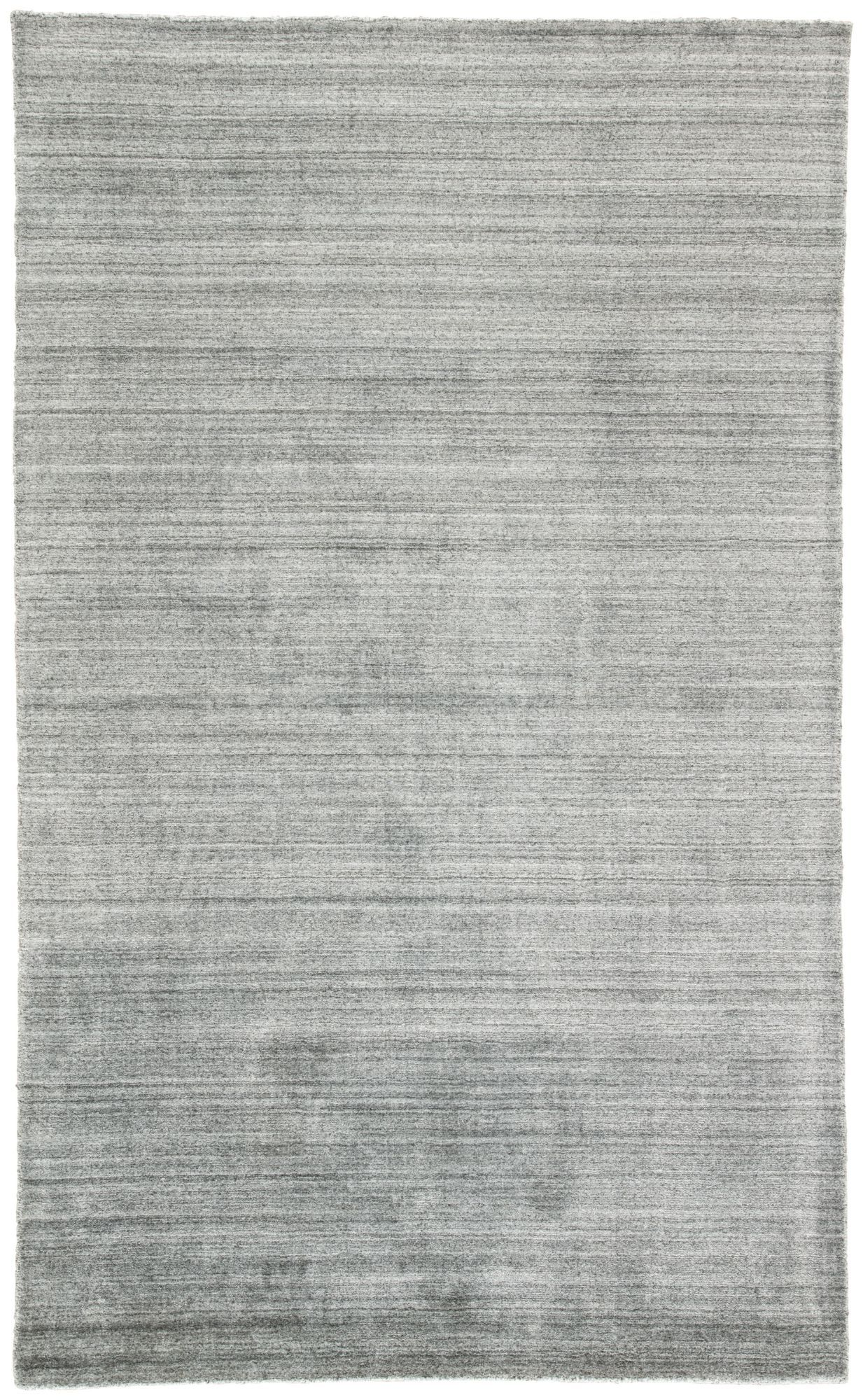 10′ x 14′ Gray and Black Solid Hand Woven Rectangular Area Throw Rug
