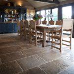 Natural Stone Flooring Adorning Delightful Kitchens Textures