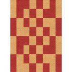 East Urban Home Kurtis Geometric Wool Orange Area Rug Rug Size: Rectangle 4' x 6'