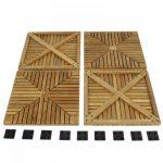 10 Cartons Diamond Teak Floor Tiles
