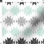 Modern Aztec Fabric - Modern Aztec By Littlearrowdesign - Kilim Modern Bohemian Aztec Cotton Fabric