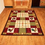Country Rooster Rugs Accent Runner Area Functional Decorative Farmhouse Decor
