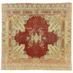 1stdibs Turkish Rug - Distressed Vintage Sivas French Art Deco Style Turkish Romantic Silk