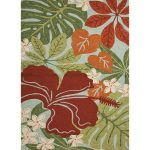 2.5' X 8' Red, Blue and Green Outdoor Area Throw Rug Runner - 31527503