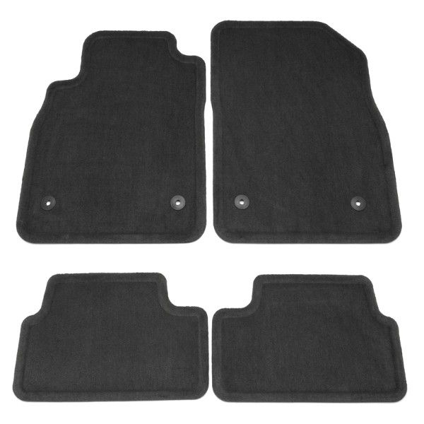 2015 Cruze Floor Mats, Front/Rear Carpet Replacements, Black 22878591