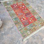 """3'84""""x5'68"""" Kilim Rug, Farmhouse Decor Rug, Turkish Carpet, Rustic Tribal Rug, Area Kilim Rug, Vintage Rug, Distressed Wool Rug, Art Decor"""
