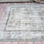 5.7x8.4, RARE, Vintage Chinese Rug, Handmade rug, Floral rug, Chinese Wool Rug, Chinese Rug, Antique Chinese rug, Gray rug, Tibati Rug, Rugs