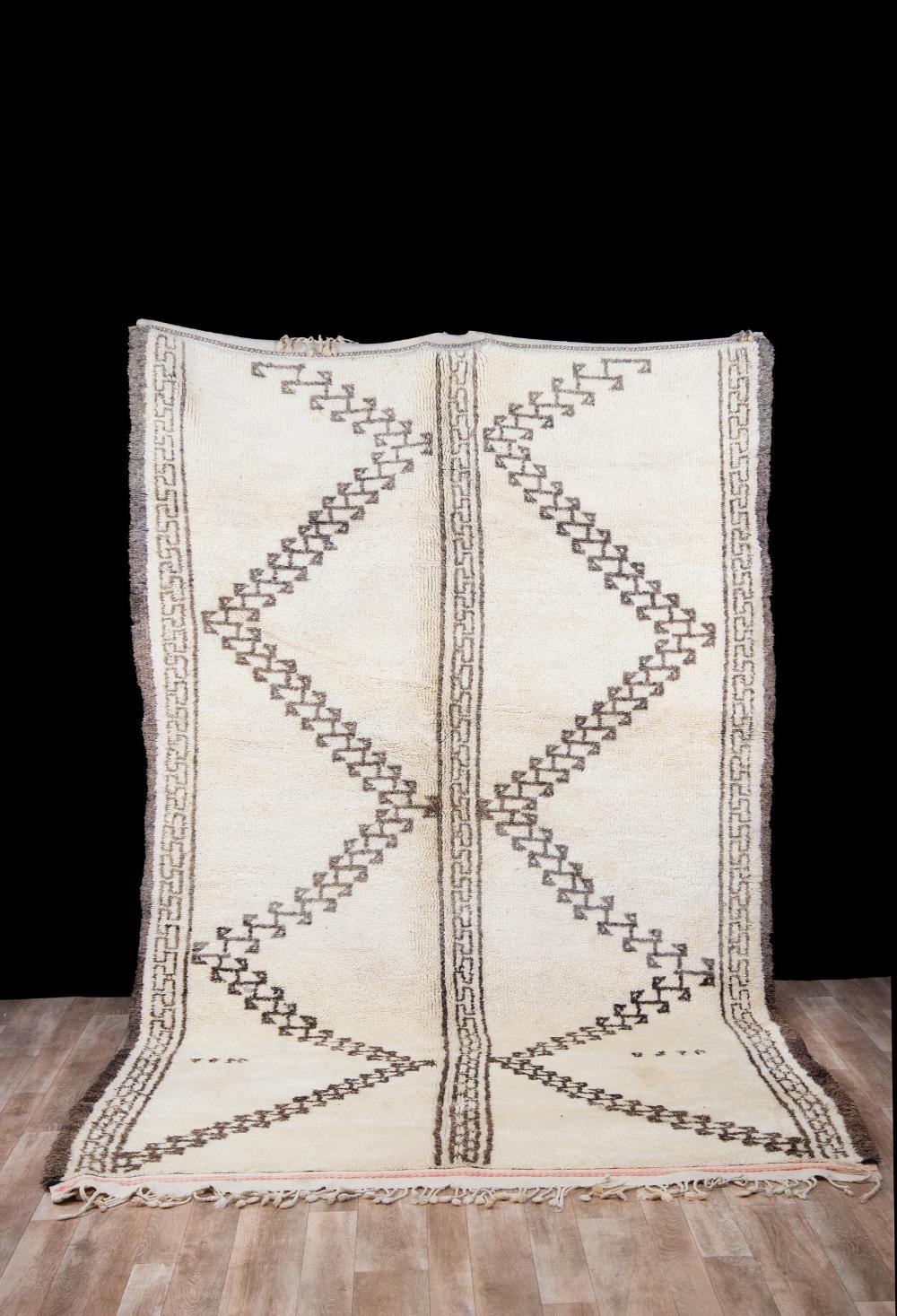 6×10 ft Beni ourain rug, Moroccan rug, Berber carpet, Morocco rug, Berber teppich, Oriental carpet, Moroccan wool rug, tapis berbere, #2001