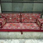 ARABIC Oriental Seating COVER Set . Phrygia . Majlis - Rug Fabric - floor seating - jalsa -so...