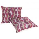 Antique Ikat Pillow Cases Fashioned from a 19th Century Tajik Ikat