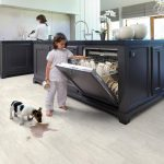 Aquastep Plus Travertin White Waterproof Tile 4V Laminate Flooring by Aqua Step ...