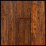 Bamboo Flooring Roasted Almond Strand Distressed Click Engineered Bamboo Floorin...
