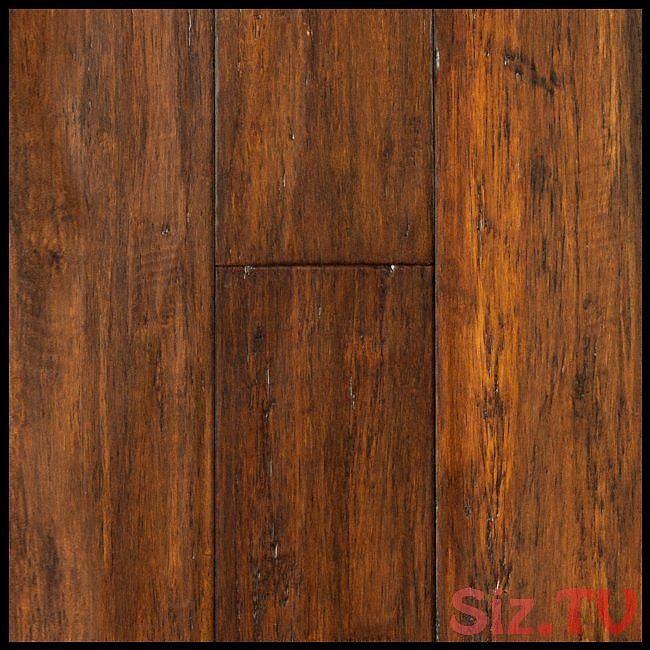 Bamboo Flooring Roasted Almond Strand Distressed Click Engineered Bamboo Floorin…