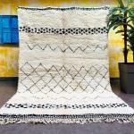 Beni ourain rug, Authentic Moroccan rug, Berber carpet, Genuine Wool rug, Handmade rug, Beni ourain style, Area rug, Tapis berbere, Teppich