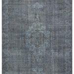 "Black Overdyed Rug 5'57"" x 8'85"", Large Floor Rug, Large Wool Rug, Modern Rugs, Office Decor Rug, Oushak Carpet, Turkish Faded Rug"