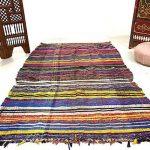 Boucherouite rug, Boucherouite, rag rug, Moroccan rug, 5.4ft x 8.4ft, Vintage moroccan rug, Berber rug, Floor rug