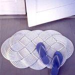 Braided Doormat great nautical rug/braided doormat how-to