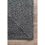 Bromborough Hand-Braided Charcoal Area Rug