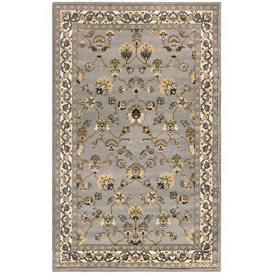 Charlton Home Parksley Kingfield Gray Area Rug Rug Size: Runner 2'6″ x 8′