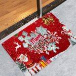 Christmas Santa Claus Letter Print Floor Rug