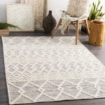 Clancy Hand-Tufted Wool Cream/Gray Area Rug