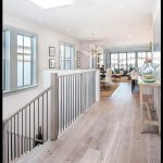 Cottage Hallway with Paint1 Walnut Shell White 5 in  Engineered Hardwood Wide Pl...