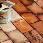 DIY End Grain Wood Floor Installation #flooring #home #decor #flooringideas