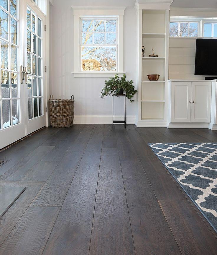 Dark Wide Plank Hardwood Flooring