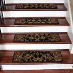 "Dean Non-Slip Pet Friendly Premium Carpet Stair Treads - Elegant Keshan Ebony 31"" x 9"" (Set of 15)"