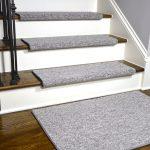 Dean Premium Pet Friendly Tape and Adhesive Free Non-Slip Bullnose Carpet Stair Treads - Dakota Fossil Gray (15) Plus a Matching 2' x 3' Landing Mat