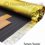 Details about 30m2 Deal - Sonic Gold 5mm - Acoustic Underlay For Wood or Laminate Flooring