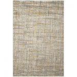 "Ebern Designs Charis Gray/Yellow Area Rug Rug Size: Rectangle 4'1"" x 6'"