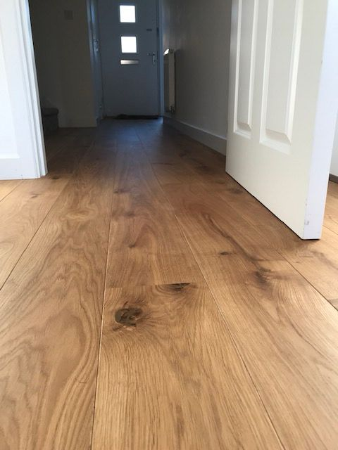 Engineered Oak flooring in hallway