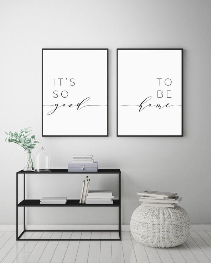 Es ist so gut, zu Hause druckbare Zeichen Set, Schlafzimmer Zitat Dekor, Wohnzimmer, Wand Kunstdrucke, sofortiger digitaler Download zu sein